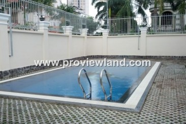 Luxury villa for rent in Thao Dien 6 bedrooms with pool and garden