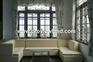 Villa for rent on frontage Nguyen Van Huong in Thao Dien ward
