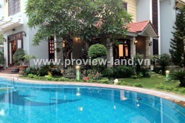 Villa Thao Dien for rent 400sqm pool and garden