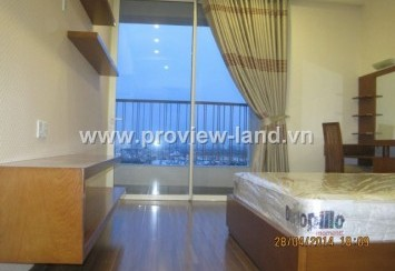 Apartment for rent in Thao Dien Pearl with balconies and beautiful scenery