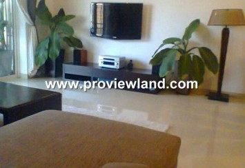 River Garden fully furnished, nice interior, high level apartment for rent district 2