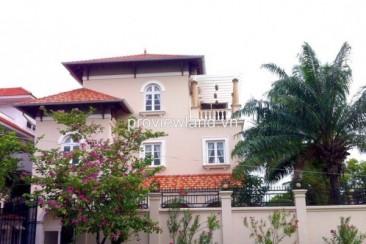 Villa Thao Dien 500 sqm with garden and nice pool for rent on Nguyen Van Huong str