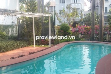 The large villa for rent at Eden compound 4 bedrooms 800 sqm have garden and pool