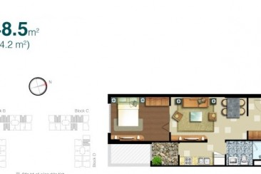 Lexington flat for rent block A high floor 48sqm 1BR suitable for singles or newlyweds