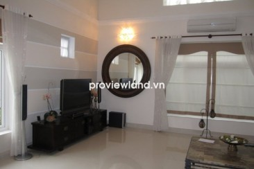 Villa for rent in District 2 at Kim Son Area has 650sqm 5BRs, pool 2 floors, Saigon riverview