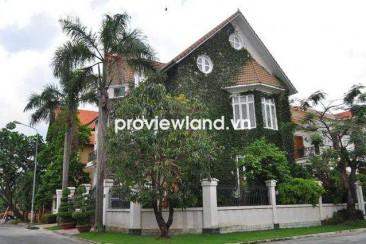 Villa for rent in Thao Dien near BIS school 2 floors 5 bedrooms part furniture