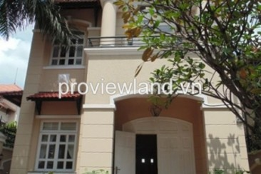 Villa for rent in District 2 5 bedrooms 250 sqm basic furniture, garden and pool