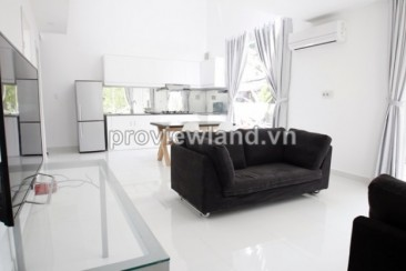 Mini villas for rent in compound Tran Nao 130 sqm and 3 bedrooms 2 floor luxury interior nice pool and garden