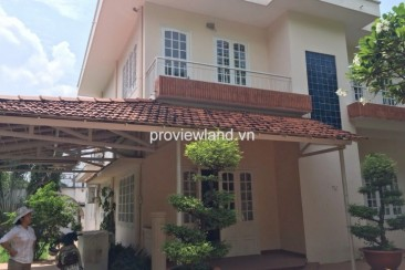 Villa for rent in Thien Nga compound District 2 has pool, tennis count, no furniture