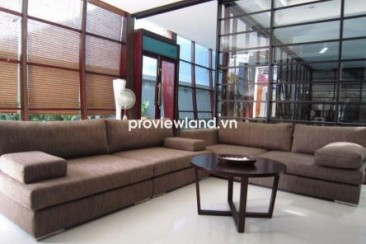 Villa for rent in An Phu Ward 300 sqm 4BRs modern design has garden, garage and pool