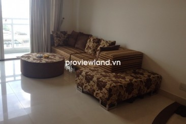 Fideco Riverview apartment for rent 3 bedrooms 140 sqm with oak wood furniture on low floor