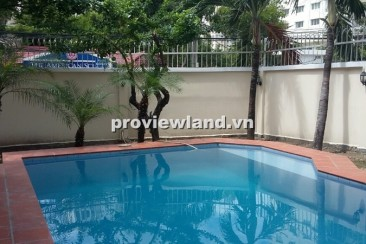 Villa for rent in Thao Dien at Bao Tien with 4 bedrooms unfurnished