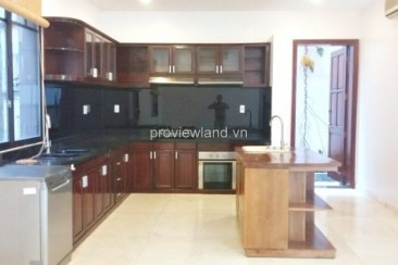 Villa for rent on Nguyen Van Huong with small pool big garden