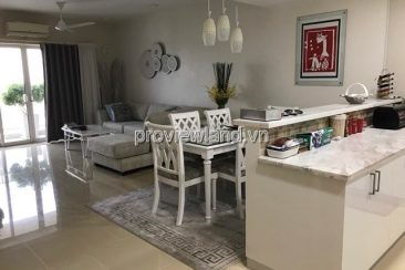Apartment for rent in River Garden high floor 140sqm 3BRs big balcony semi furnished River view
